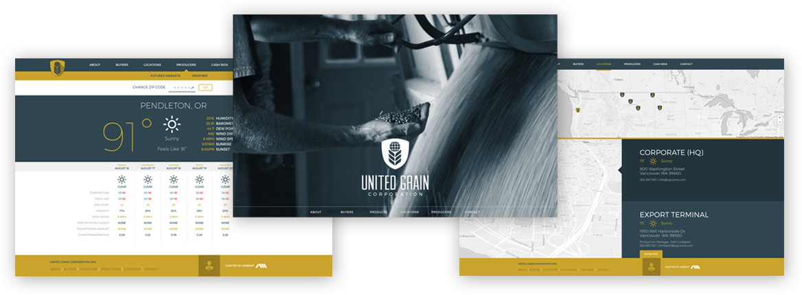 United Grain Website Design by Ambient