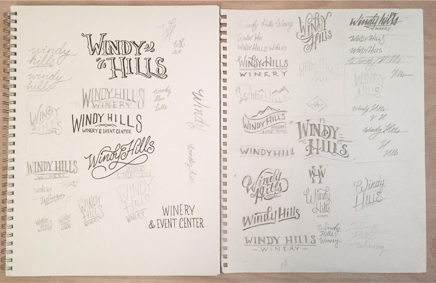 Windy Hill brand sketches
